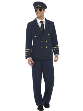 Adult Pilot Costume Couples Costume