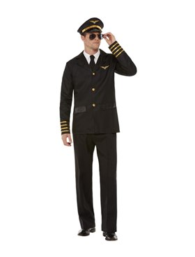Adult Pilot Costume - Back View