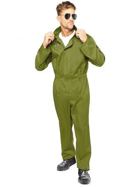 Adult Pilot Jumpsuit Costume