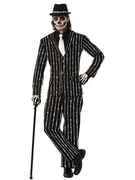 Adult Pin Striped Bone Suit Costume
