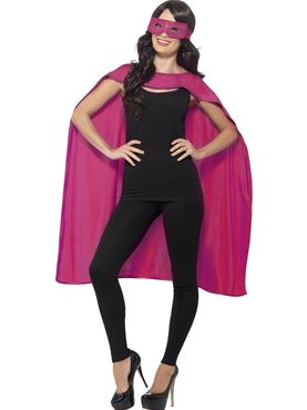Adult Pink Cape & Eye Mask Set