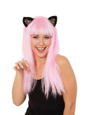 Adult Pink Cat Wig
