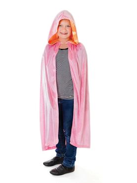 Child Pink Hooded Cloak