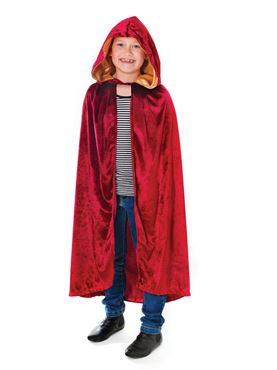Child Burgundy Hooded Cloak