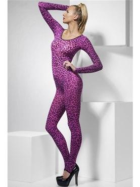 Adult Pink Leopard Print Bodysuit