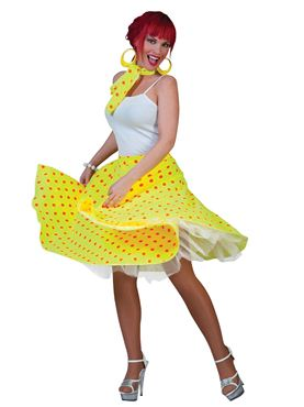 Adult Yellow Rock n Roll Skirt