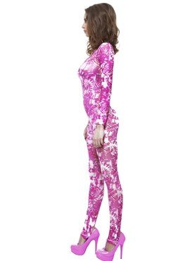 Adult Pink Tie Dye Bodysuit - Back View