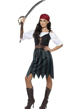 Adult Pirate Deckhand Costume Couples Costume