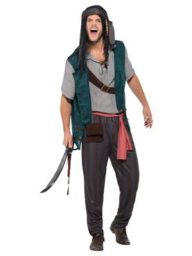 Adult Pirate Deckhand Costume - Side View