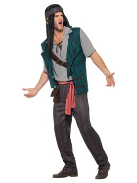 Adult Pirate Deckhand Costume - Back View