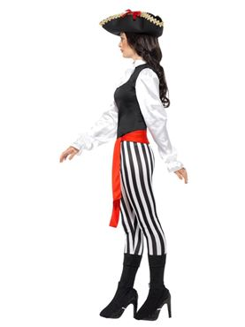 Adult Pirate Lady Costume - Back View