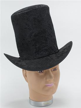 Adult Black Velvet Top Hat