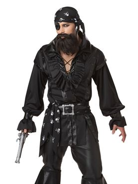 Adult Plundering Pirate Costume - Back View