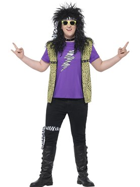 Adult Plus Size 80s Rock Star Costume Couples Costume