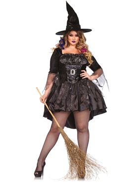 Adult Plus Size Black Magic Mistress Costume