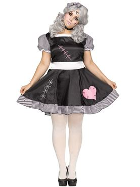 Adult Plus Size Broken Doll Costume