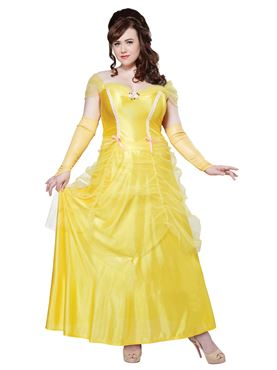 Adult Plus Size Classic Belle Costume