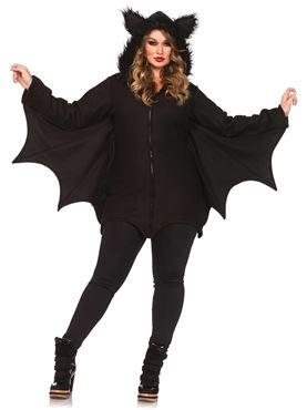 Adult Plus Size Cozy Bat Costume