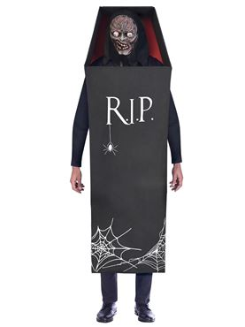 Adult Plus Size Creepy Coffin Costume