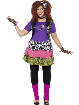 Adult Plus Size Curves 80s Rock Chick Costume  sc 1 st  Fancy Dress Ball & Adult Plus Size Curves 80s Rock Chick Costume - 44658 - Fancy Dress Ball
