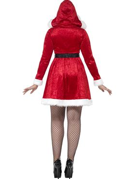 Adult Plus Size Curves Miss Santa Costume - Side View