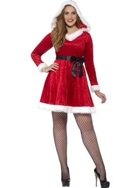 Adult Plus Size Curves Miss Santa Costume