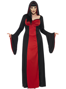 Adult Plus Size Dark Temptress Vamp Costume Couples Costume