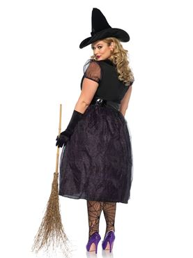 Adult Plus Size Darling Spellcaster Costume - Back View