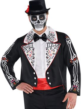 Adult Plus Size Day of the Dead Senor Tailcoat