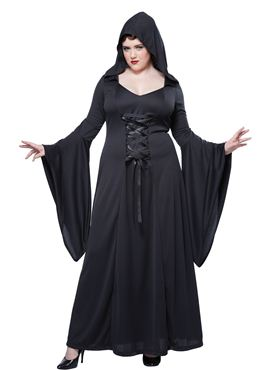 Adult Plus Size Deluxe Hooded Robe Costume