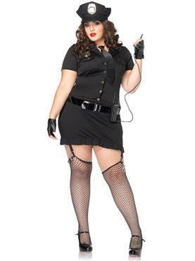 Adult Plus Size Dirty Cop Costume