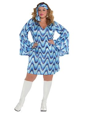 Adult Plus Size Disco Lady Costume