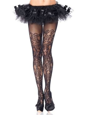 Adult Plus Size Floral Tights