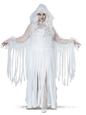 Adult Plus Size Ghostly Spirit Costume