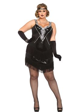 Adult Plus Size Glamour Flapper Costume