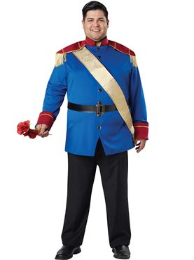 Adult Plus Size Storybook Prince Costume Couples Costume