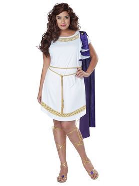 Adult Plus Size Grecian Toga Dress Costume