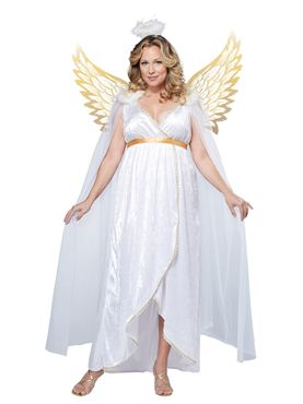 Adult Plus Size Guardian Angel Costume