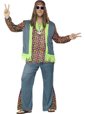 Adult Plus Size Hippie Costume