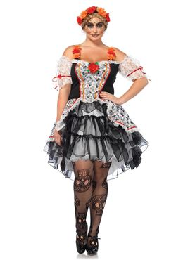 Adult Plus Size Lovely Calavera Costume