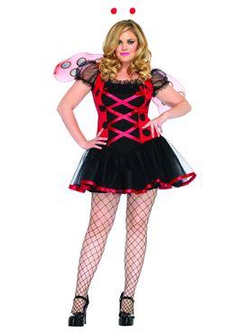 Adult Plus Size Lovely Ladybug Costume