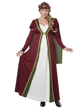 Adult Plus Size Medieval Maiden Costume Thumbnail