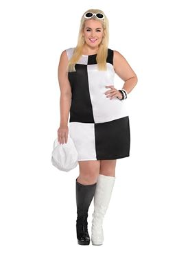 Adult Plus Size Mod Girl Costume
