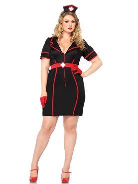 Adult Plus Size Naughty Night Nurse Costume