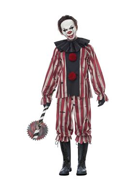 Adult Plus Size Nightmare Clown Costume - Back View