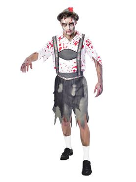 Adult Plus Size Oktoberfest Zombie Costume