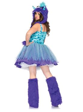 Adult Plus Size Polka Dotty Monster Costume - Back View