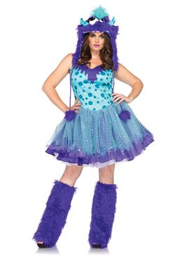 Adult Plus Size Polka Dotty Monster Costume