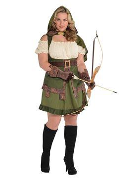 Adult Plus Size Robin Hoodie Costume