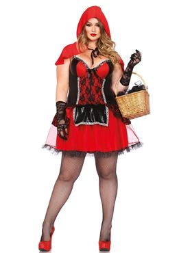 Adult Plus Size Shapewear Riding Hood Costume